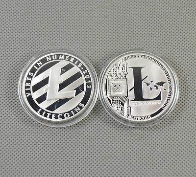 2PCS Silver Plated Commemorative Litecoin Collectible Iron Miner Coin Gift XN9