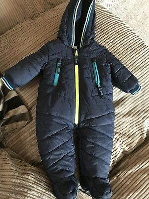 Ted Baker Baby Boy 0-3 Snow Suit Very Good Condition!