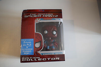 the amazing spider-man 1 + 2 édition collector bluray blu-ray blu ray + pop neuf