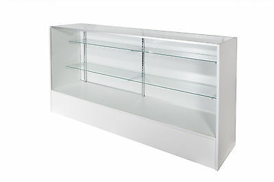 Glass Display Counter 1800L- White