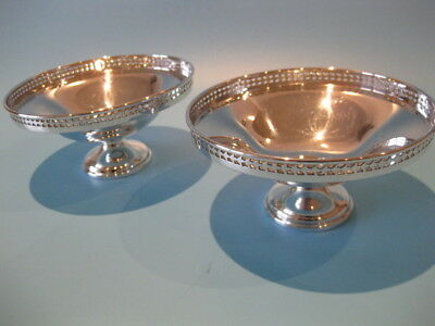 Beautiful Pair of Antique Early Victorian Quality Silver Plated Bon Bon Dishes