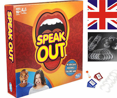 Brand SPEAK OUT Board Game Party Mouth Piece Challenge Family Fun Game XMAS GIFT