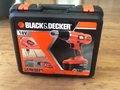 Black And Decker Epc188bk drill 18v with extra battery Brand New