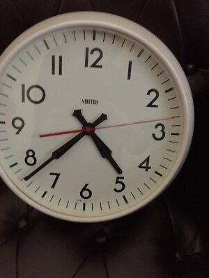 ENGLISH Smiths Midcentury Vintage Retro Industrial Factory Office Clock. Working