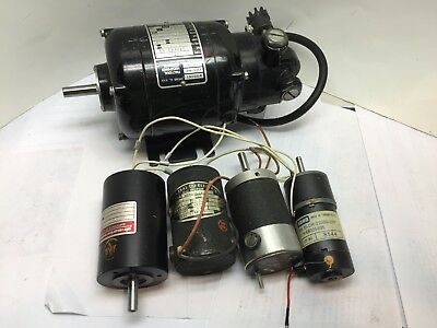 P306. Bodine NSH 12R Double-ended Motor. Plus 4 small motors Watchmaker