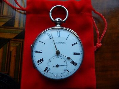 English silver fusee pocket watch 51mm,working Newcastle-upon-Tyne