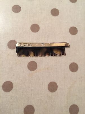 1928 Silver Topped Moustache Comb