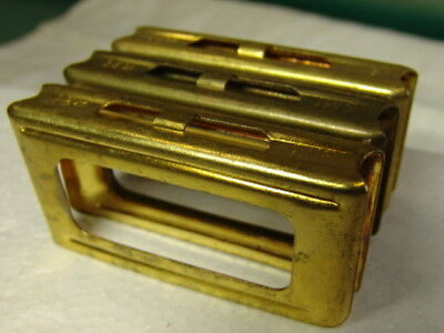 very nice ITALIAN ARMY-- Set of 3x CARCANO clips * SMI 24 ?1924?*made in brass-