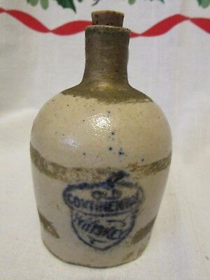 Old Miniature Stoneware Whiskey Jug Old Continental Whiskey Sample Blue Acorn