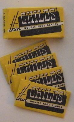 Vintage Made in USA Razor Blade CHILDS THIN Full Pack of 4