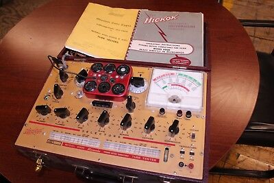 HICKOK SERIES 6000 GM TUBE TESTER - SHOWN TESTING TUBES - Working
