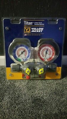 Yellow Jacket R410a/R32 Refrigeration Manifold Gauges.