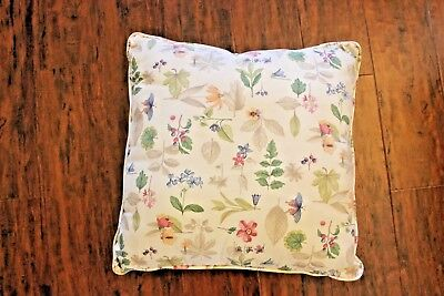 "Longaberger 16"" Square Pillow Retired Botanical Fields EUC"