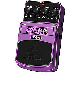 Behringer Overdrive Distortion Effects Pedal OD300