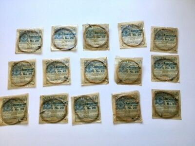 Lot of 15 Antique 1890s? John F. Stratton's Violin E Strings Russian Gut No. 28