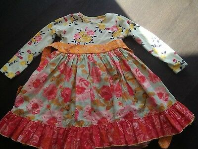 Olive Mae 4T cotton floral dress.