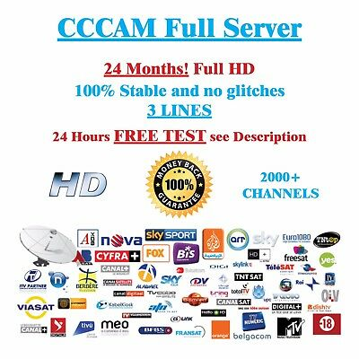 CCCAM Service 24 Months Dreambox vu + Price just 19,95 €