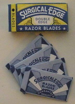 Vintage Made in USA Razor Blade SURGICAL EDGE  Full Pack of 4