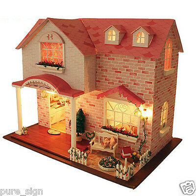 DIY Handcraft Miniature Project My Pink Sweetheart Music Wooden Dolls House