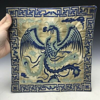 Chinese ancient silk class official wear hand embroidered phoenix pattern