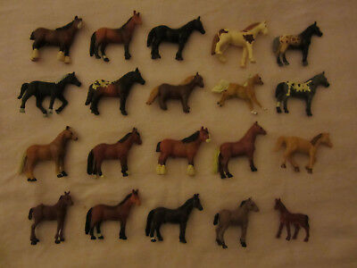 20 Collectible Miniature Horses,1 Breyer, 2 Safar1, 17 China. Ideal for Display!