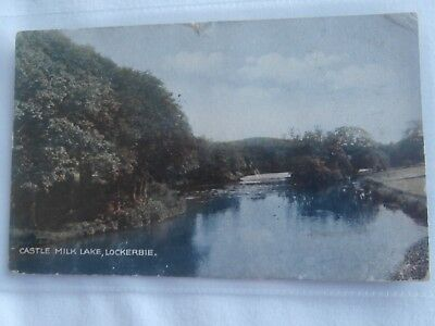 Scotland Dumfries and Galloway Lockerbie and Castle Milk Lake 1933 postcard