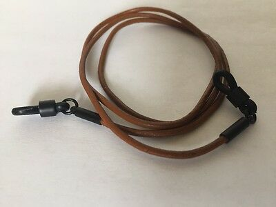 Leather Eyeglass Sunglass Hanging Cord Light Brown Leather String W/Black ends