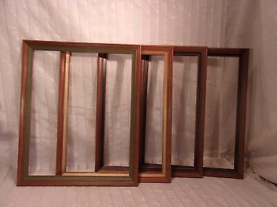 Set of FOUR  mid century vintage wood frames 18 1/2 x 22 1/2  holds 16x20