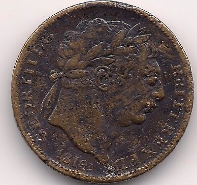 Historic Rare 1819 George III Copper Token,Coin