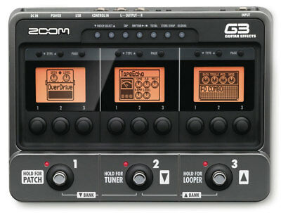 Zoom G3 Guitar Effects Pedal & Amp Simulator