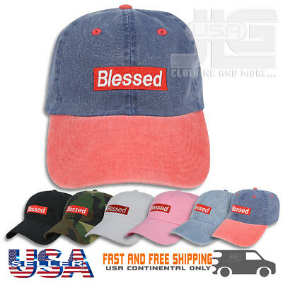 Blessed Embroidered Dad Cap Adjustable Polo Style Unconstructed c100ac7b0e7e