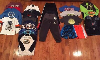 Lot of 28 Boys Clothes Sizes 5-6-7 Long & Short Sleeve Shirts Pants Jackets