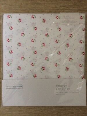 BNIP The White Company Cot Bed / Cotbed Set - Duvet Cover & Pillowcase - Cherry