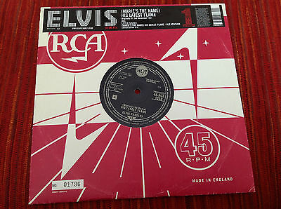 """10"""" Elvis Presley  (Maries The Name) His Latest Flame."""