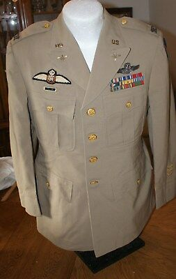 WW 2 USAAF Pilots Tropical Jacket, RAF and Command Pilots Wings