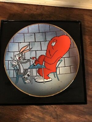LOONEY TUNES 1946 HAIR RAISING HARE PLATE - Bugs Bunny & Gossamer! Perfect Cond!