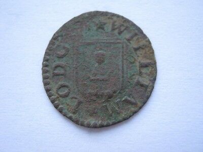 Yorkshire Bedale 1664 Farthing William Lodge mercer F
