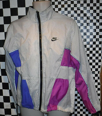 Vintage 1980's Nike Sample Running Jacket Size Medium Made In Usa Nice L@@k