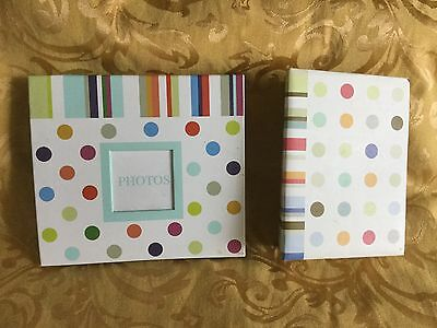 2 CR GIBSON POLKA-DOT BABY PHOTO ALBUMS 4x6 and 5x7 - 150 PHOTOS