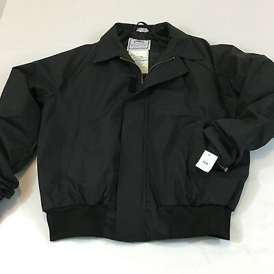 Military Utility Jacket Black Unisex Medium Regular Quarterdeck Collection