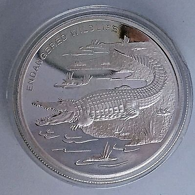 Congo Democratic Republic 10 Francs 2009- Endangered Wildlife- Crocodile Proof