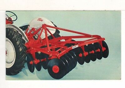 c1960 Ad Postcard: Ford Dearborn Lift Type Tandem Disc Harrow