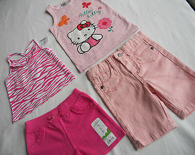 NWT H&M Hello Kitty Etc. Girls' 4-pc Tops /Shorts, Multi, Size 18M, 18-24 Months