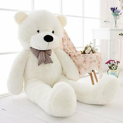 "47"" GIANT White Teddy Bear Stuffed Animal Huge Soft Plush Cute Toy Birthday Gift"