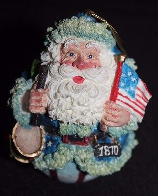 ROMAN GALLERIA LUCCHESE 1870 ROLY POLY SANTA ORNAMENT Ex Cond No Box