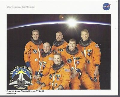 Sts- 132 Nasa Crew Photo, Autopen Signature All 6 Astronauts