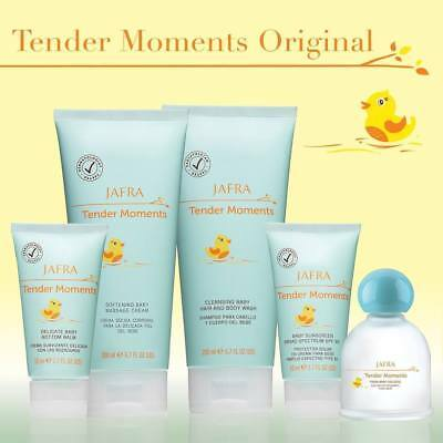 Jafra Tender Moments 5 Piece Set Cologne+Cream+Body Wash+Sunscreen+Bottom Balm