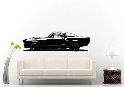 Wall Room Decal Vinyl Sticker American Muscle Old Antique Classic Sport Car L702