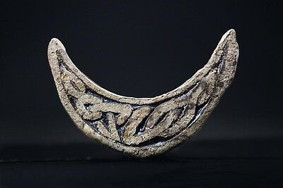 Ancient Viking Silver Amulet. Knot Pendant of Norse Lunar Symbol, c 950-1000 AD.