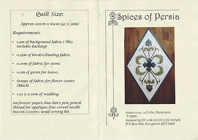 PATCHWORK QUILTING APPLIQUE PATTERN -  'Spices of Persia'